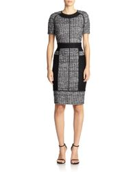 St. John Sparkle Tweed Dress black - Lyst