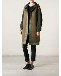 Etoile Isabel Marant Contrasting Panels Hooded Coat - Lyst