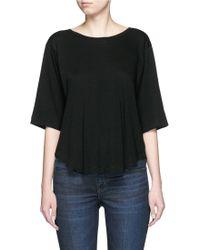 Helmut Lang | Scoop Neck Cotton-cashmere T-shirt | Lyst
