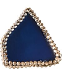 Roni Blanshay Jagged Ring - Blue