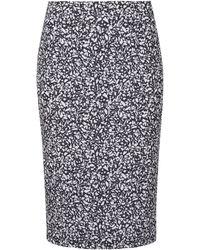 Jonathan Saunders White Laura Digital Print Pencil Skirt - Lyst