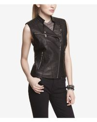 Express Quilted Minus The Leather Moto Vest - Lyst