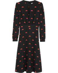 Lulu & Co Printed Stretchsilk Crepe Dress - Lyst