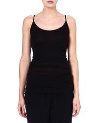 Enza Costa Sleeveless Jersey Vest Top Black - Lyst