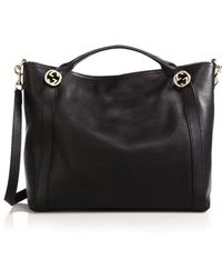 Gucci Miss Gg Medium Leather Top-Handle Bag - Lyst