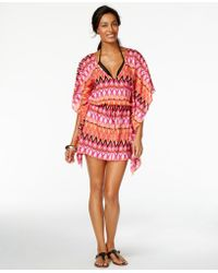 Kenneth Cole Reaction -print Cover-up - Pink