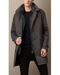 Burberry Technical Fabric Coat With Warmer - Lyst