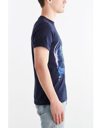 Design By Humans Astronaut Cat Tee - Blue