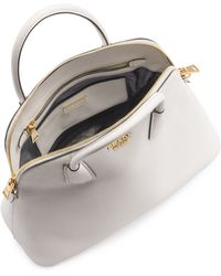 Prada - All Designer Products - Saffiano Cuir Large Dome Satchel Bag - Lyst