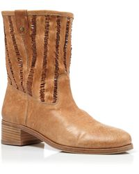 Delman - Boots - Merci Slouch Perforated Mid Heel - Lyst