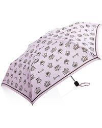 Harrods Crown Umbrella - Purple