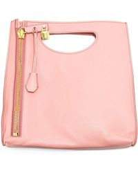 Tom Ford Alix Small Calfskin Shopper Tote Bag pink - Lyst