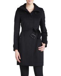 Burberry Brit Gibbsmore Wool-blend Coat - Black