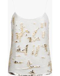 Ted Baker Sequin Embellished Cami - Lyst