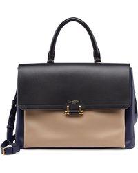 Lanvin Calfskin Top-Handle Shoulder Bag - Lyst