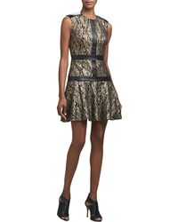 Nicole Miller Lace Fit-And-Flare Cocktail Dress - Lyst