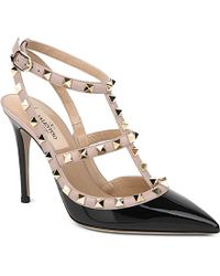 Valentino Rockstud Patent Leather Courts - For Women - Lyst