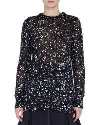 Fendi | Paint-Splattered Mohair And Silk-Blend Sweater | Lyst