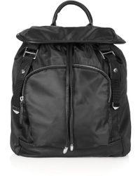 Topshop Womens Soft Nylon Backpack  Black - Lyst