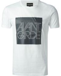Emporio Armani Avant Garde Print T-Shirt - Lyst