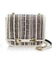 Jimmy Choo Zadie Mini Snakeskin Crossbody Bag - Lyst