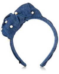Masterpeace - Sea Knot And Pearls Denim Headband - Lyst
