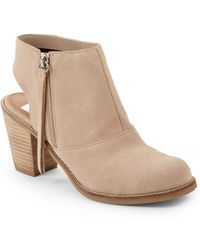 Dolce Vita Jemima Cutout Suede Ankle Boots - Lyst