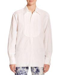 Polo Ralph Lauren Textured-Bib Shirt - Lyst