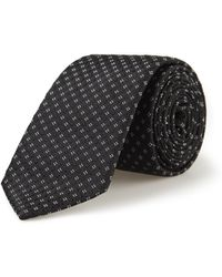 DKNY - Charcoal Mini Neat Silk Tie - Lyst