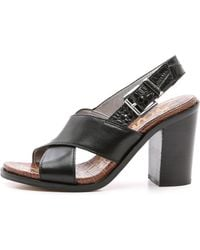 Sam Edelman Ivy Slingback Sandals - Black - Lyst
