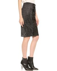 Vera Wang Collection - Pencil Skirt With Sequin Front Panel - Black - Lyst