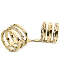 Michael Kors Gold-tone Pavé Knuckle Ring - Lyst
