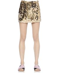 Simonetta Ravizza Sequined Tulle Mini Skirt - Lyst