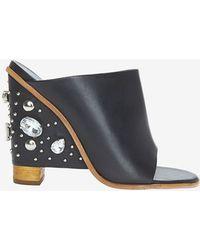 Tibi Britt Crystal Heel Sandal Slide - Lyst