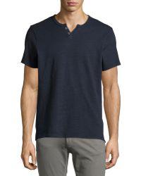 Joe's Jeans Wintz Short-Sleeve Henley Slub Tee - Lyst