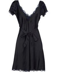 Anna Sui Short Dress black - Lyst