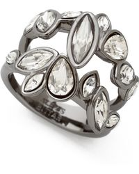 Alexis Bittar - Moonlight Marquis Cluster Ring - Clear/Ruthenium - Lyst