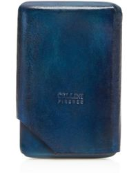 Bloomingdale's Card Case With Cut - Blue