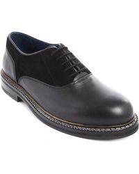 Opening Ceremony Antoine Dual Material Black Brogue Shoes - Lyst