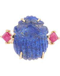 Silvia Furmanovich - Lapis Lazuli And Ruby Yellow-gold Ring - Lyst