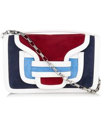 Pierre Hardy Colour-Block Suede And Leather Shoulder Bag - Lyst