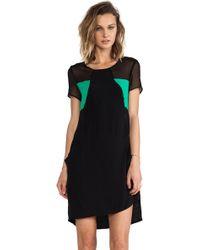 Pink Stitch Black Tess Dress - Lyst