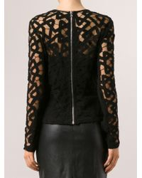 Yigal Azrouel Lace Blouse - Lyst
