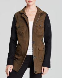 James Jeans Jacket Ponte Sleeve Utility - Lyst