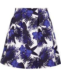 Minimum Print Skirt - Blue