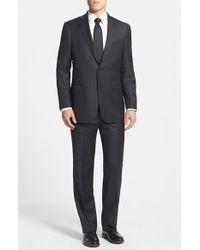Hart Schaffner Marx 'New York' Classic Fit Stripe Suit - Lyst