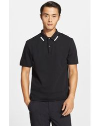 T By Alexander Wang Tipped Pique Polo - Lyst