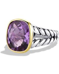 David Yurman Noblesse Ring With Amethyst And Gold - Metallic