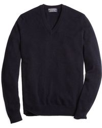 Brooks Brothers Cashmere V-Neck Sweater-Basic Colors - Lyst