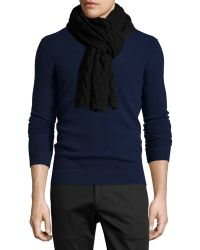 Theory - Hubell Textured Wool Scarf - Lyst